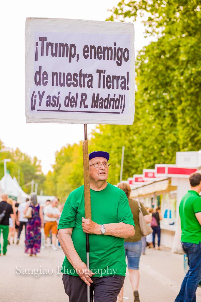 Protesta contra Trump pancarta