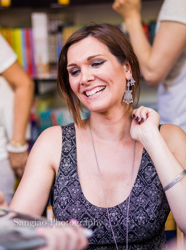 Foto de Victoria Francés feria del libro Madrid