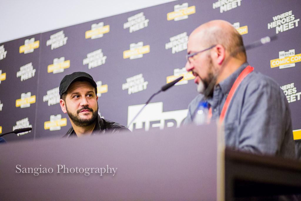 Stefan Kapičić and Fabian Nicieza comic con Madrid