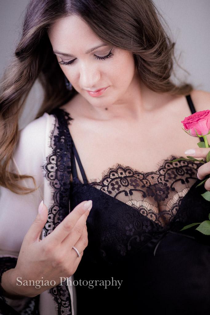 modelo en lencería foto boudoir madrid