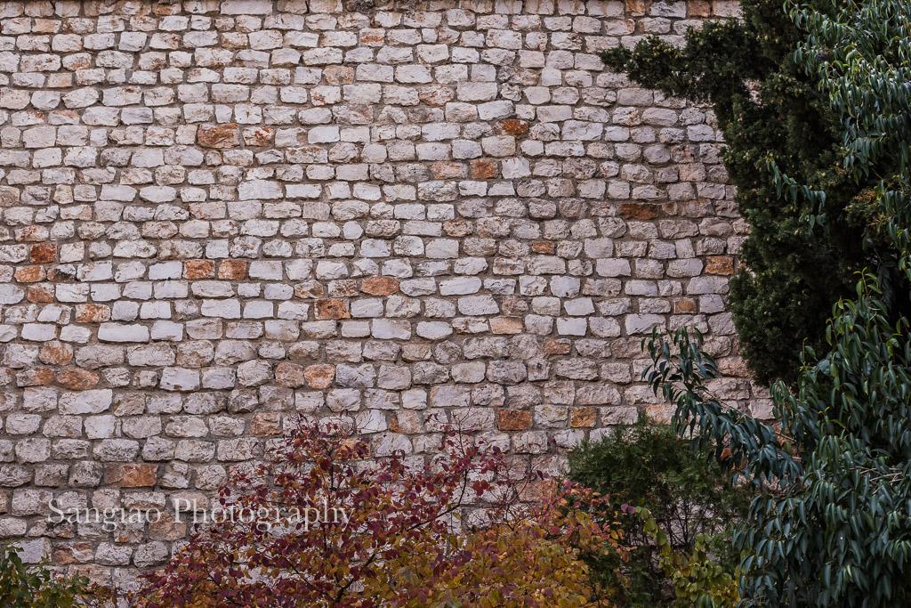 muro ladrillos antiguos textura chinchón madrid