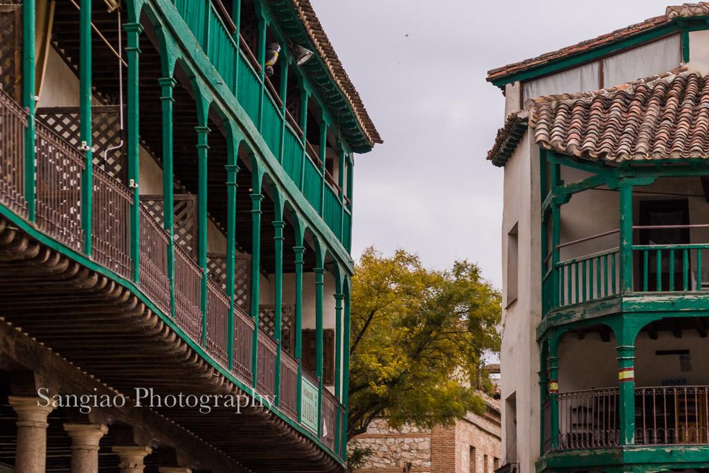fotografia chinchón plaza mayor madrid