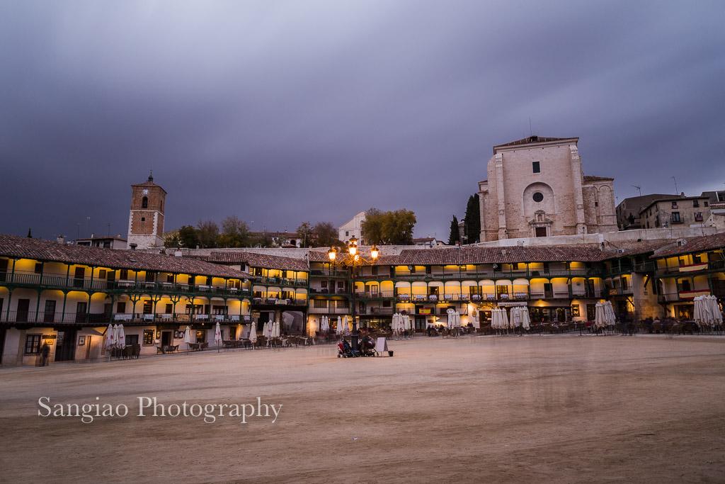 hora azul chinchón Madrid fotografía