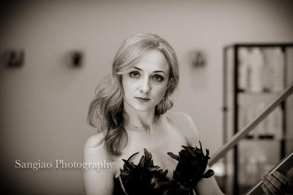 fotos boudoir blanco y negro corset madrid